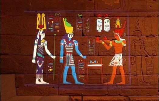Magique : le MET restaure les couleurs originelles d'un temple Egyptien