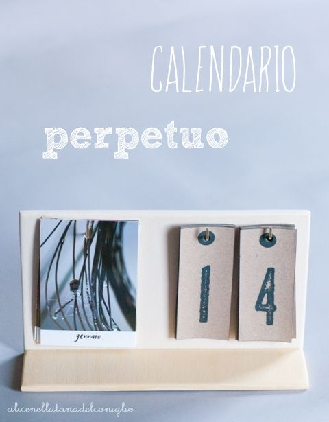 la Tana del Coniglio: photo calendar - calendario perpetuo