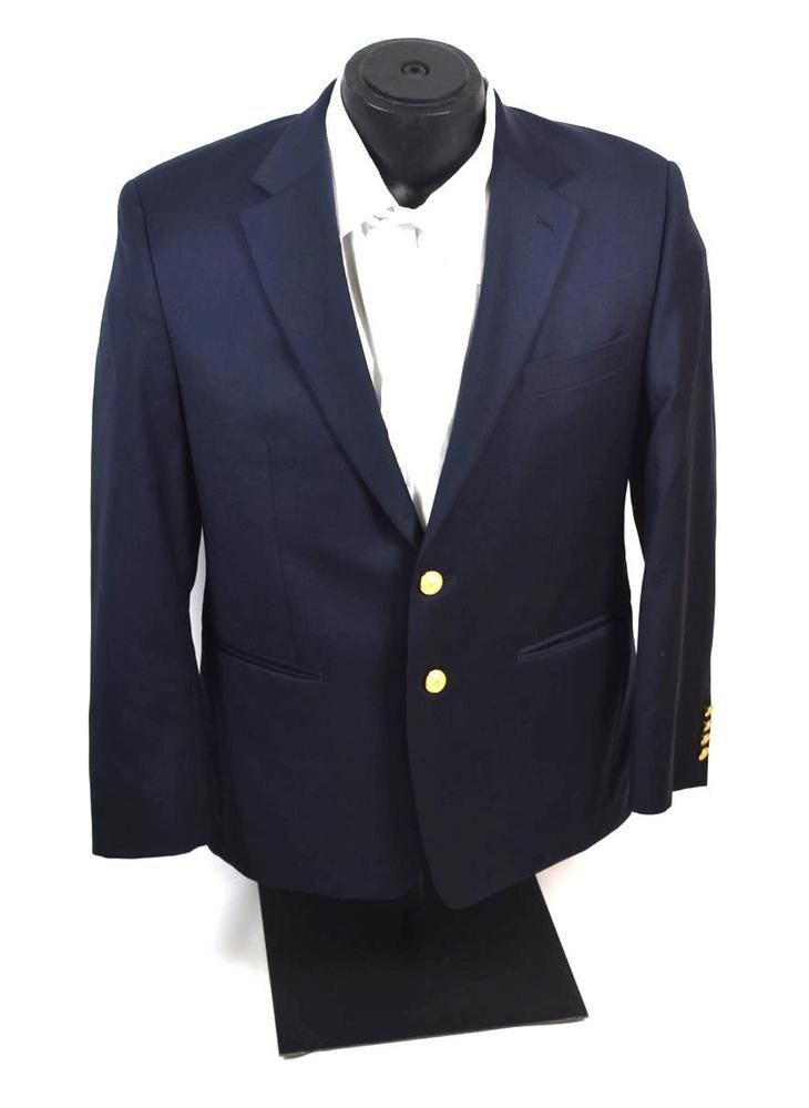 42c7522e72a6 Men's Lauren Ralph Lauren Navy Blazer Suit Jacket Metal Brass Buttons Size  38S