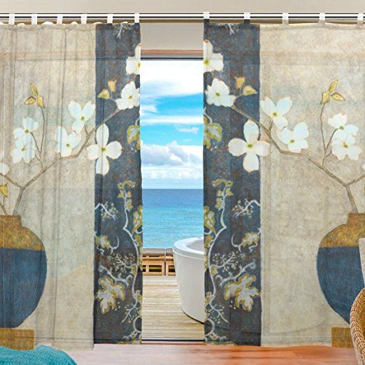 ユキオ(UKIO) オーダーメイド DIY レースカーテン 紗のカーテン 人気 可愛い お洒落 スタイルカーテン 2枚セット幅140丈210
