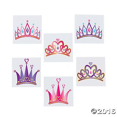 Princess Tiara Tattoo Assortment