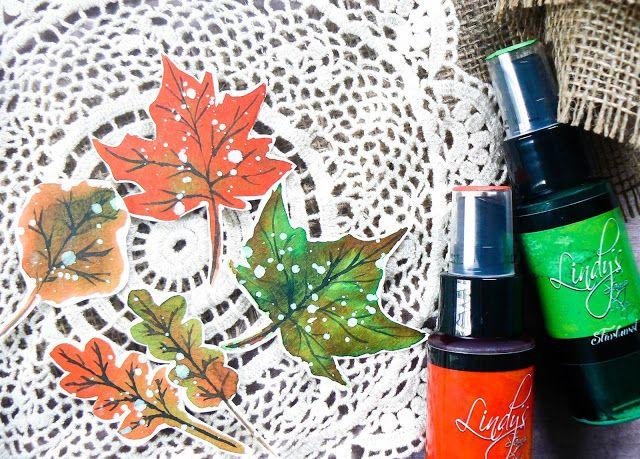 Lindy's stamp gang October Color Challenge