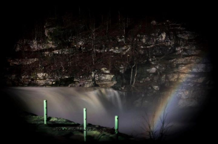Moonbow @Cumberland Falls State Park, Kentucky          The moonbow is cool.It vibrates across the river in platnium light.