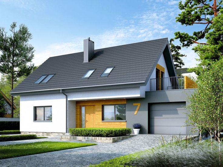 Projekt Logan G1. Logan G1 to prosty, nowoczesny i tani w budowie dom, w którym świetnie odnajdą się miłośni...
