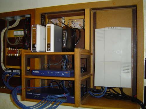 whole house structured wiring networking set ups cabinets panels picture media center