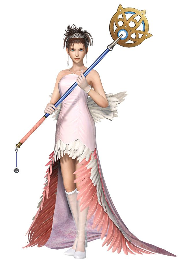 Yuna Wedding Gown Ii Character Artwork From Dissidia Final Fantasy