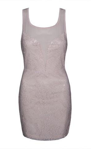 Taylor Pink Sequin Sheer Dress $55.95  www.littlepartydress.com.au