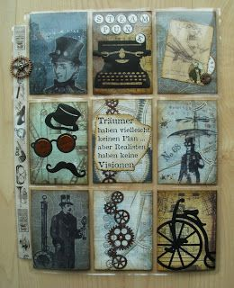 Utes kreative Seite: Pocketletter No. 19 - Steampunk