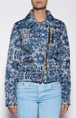 Just Cavalli jacket Quilt effect jacket with flower print, gold zippers an pockets and front closure. 100%POLYESTER Code: S02AM0080N36633