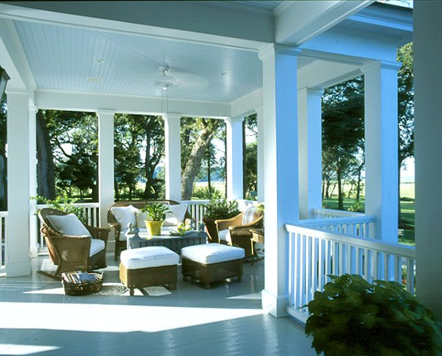 Carolina Island House Love The Porch And The Columns And