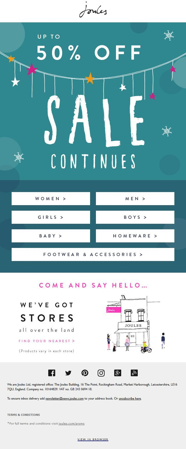 Joules Sale #Email #Marketing