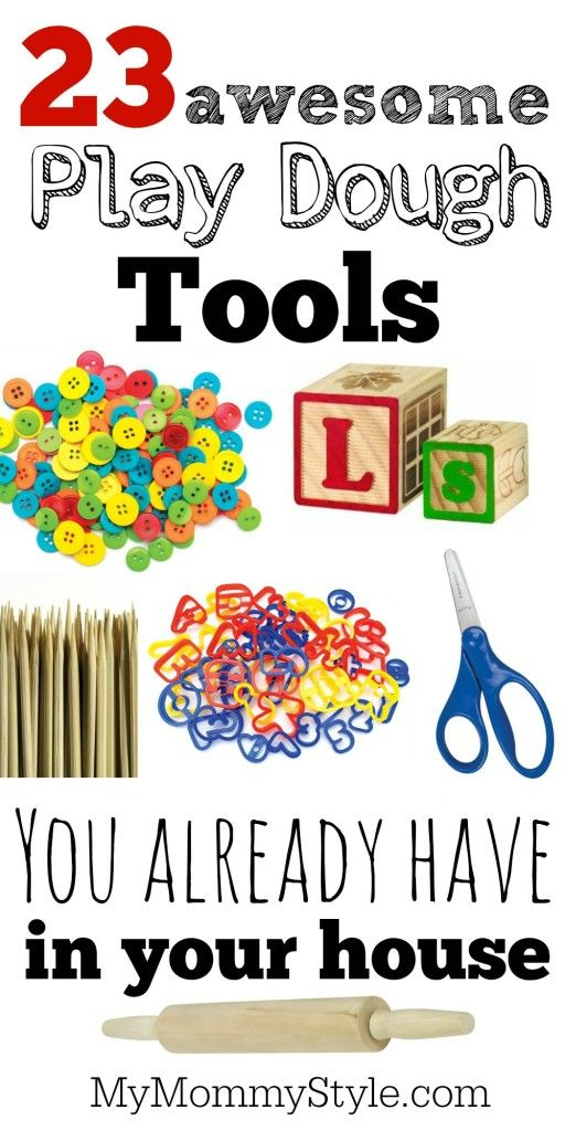 23 awesome play dough tools you already have in your house .                                                                                                                                                      More