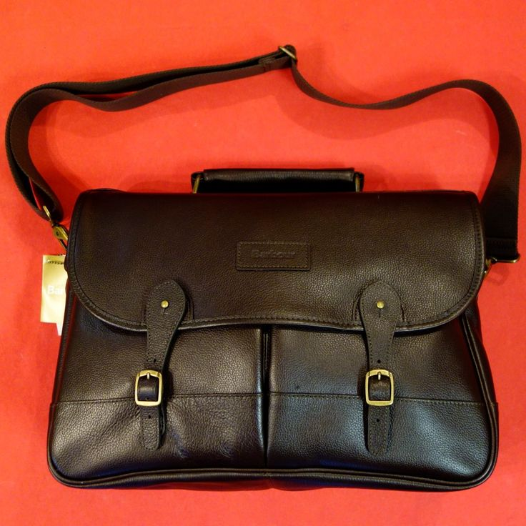 Barbour Briefcase in Dark Chocolate Brown Leather UBA0011BR91 from Smyths Country Sports