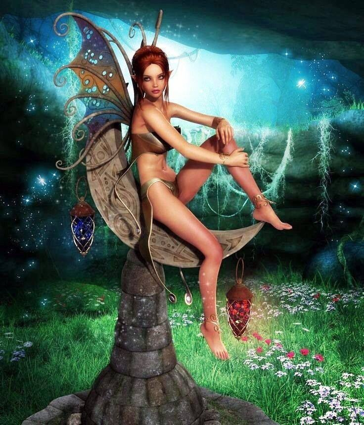 Youbou ass fairy feet naked nipples pointy ears wallpaper wings