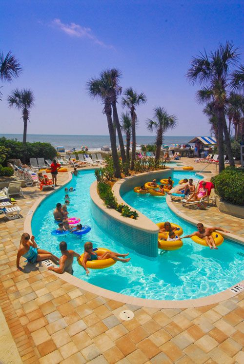 Coral Beach Resort Myrtle Beach with lazy river and kids water park!