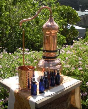 Alembics - Copper Still Steam Distillation of Essential oils, natural aromatic Hydrosols and floral waters and Spirits