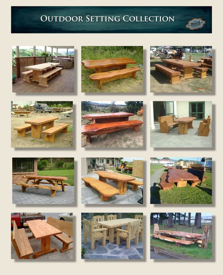 Macrocarpa Wooden Outdoor Table Settings - See more at http://www.macsmacrocarpa.co.nz/page10.html