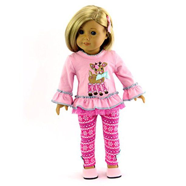 Reindeer Pant Set Fits 18 American Girl Dolls Made Such As American Girl Madame Alexander Our Generation Etc 18 Inch Doll Clothes Walmart Com In 2020 Doll Clothes American