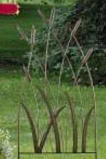 Giftcraft Outdoor Garden Home Trellis Bullrush Grass . $60.00. This beautiful trellis is decorated with bullrush grass.  It is made with rust brown iron.