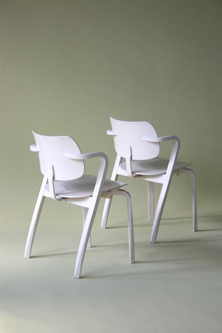 2x Aslak Chairs, Ilmari Tapiovaara, Asko, Finland, 1958