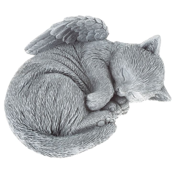 Pure Garden Angel Cat Remembrance Figurine, Grey – Products