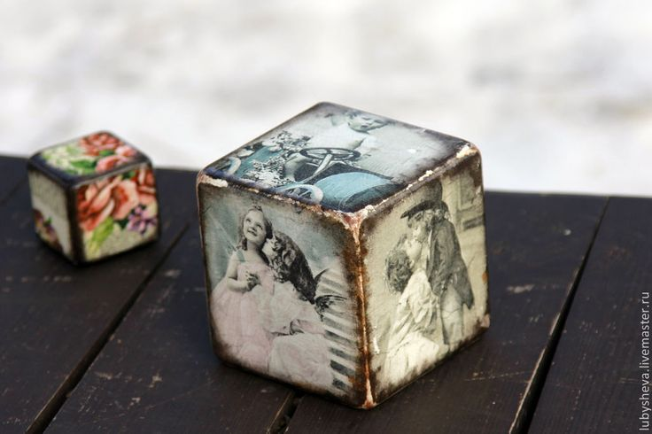 """Интерьерный кубик """"Старинные вещицы..."""" - разноцветный,винтаж,винтажный стиль"""