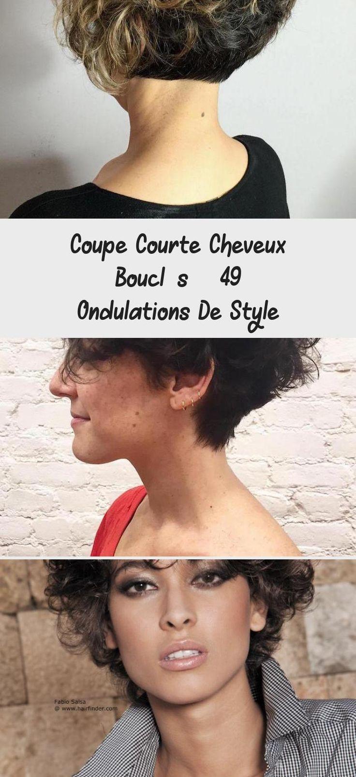 Coupe Courte Cheveux Bouclés - 49 Ondulations De Style