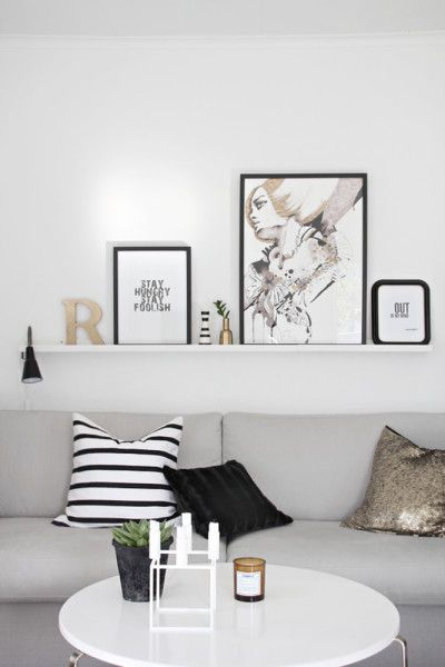 Living in Black and White ... home decor ideas for adding some stylish B into the home.