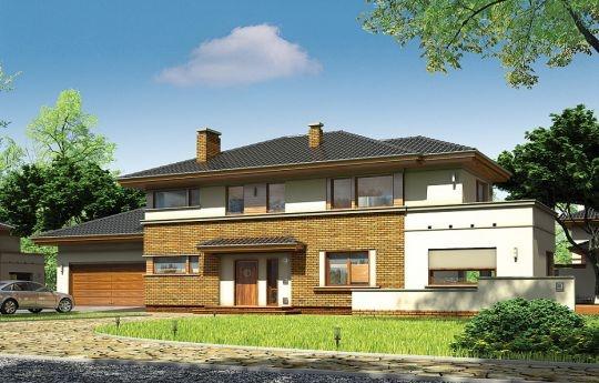 Projekt Verona to domek odpowiedni dla rodziny cztero-pięcioosobowej. Piętrowy dom jest przykryty czterospadowym dachem. Budynek został zaprojektowany tak, aby mógł się zmieścić na płytkiej działce, o niewielkiej głębokości od ogrodzenia frontowego przy drodze do tylniej granicy działki. Szczególnie dedykowany dla działek, które ze względu na swoją głębokość mają ogród z boku domu. Nowoczesna forma architektoniczna, nawiązująca do projektów F.L.Wrighta.