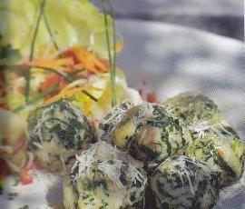 Rezept Spinat-Käseknödel von Jenessa - Rezept der Kategorie Hauptgerichte mit Gemüse
