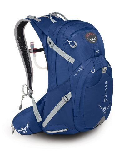 Osprey Manta 25 Daypack, Liquid Blue, Medium/Large by Osprey. $107.95. Amazon.com                An ideal volume for day-long adventures, the Manta 25 is packed with the features needed for long trail hikes to peak bagging.  Two zippered side access slash pockets keep gear organized, while dual stretch woven side pockets with InsideOut compression provide versatility for external gear carry. Features include a180-degree on-off pivot bit valve, a 3-liter HydraForm re...