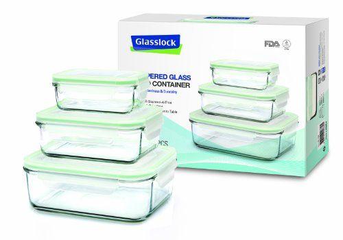 Glasslock 3 Pieces Rectangular Set for Food Storage (1x 400ml, 1x 1000ml, 1x 2000ml) GL-135 Glasslock http://www.amazon.co.uk/dp/B006Z58F6K/ref=cm_sw_r_pi_dp_PDedub1YDQJW5