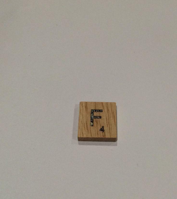 "ONE TILE LETTER ""F"" - wooden Scrabble Tiles letters - Magnets Pendants Craft by ElvesNFairies on Etsy"