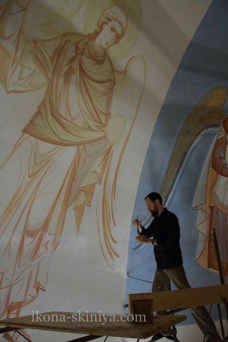 Mural fresco painting by Anton Daineko 2017