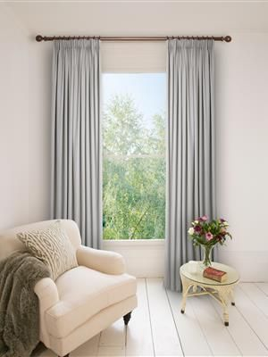 Ready Made Pencil Pleat Curtains In Jupiter. Blackout or Cotton Lined, 100% Cotton #naturalcurtaincompany #blackout #thermal