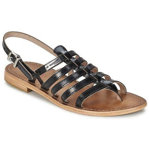 Les Tropéziennes par M Belarbi HERISSON Noir - Chaussure pas cher avec Shoes.fr ! - Chaussures Sandale Femme 55,00 €