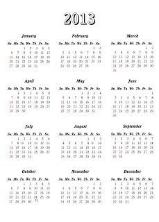Download Kalender 2013 Dan Hari Libur Nasional