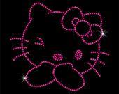 Hello Kitty Rhinestone Iron-On Transfer - DIY Iron On Rhinestone Transfer