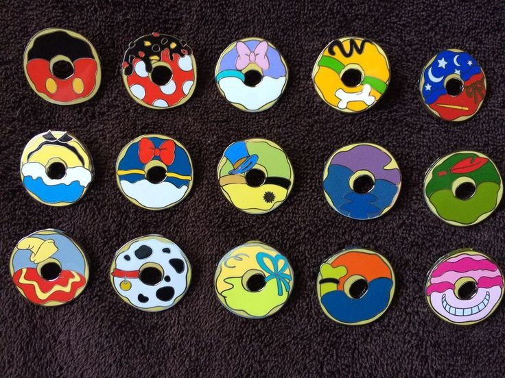 Disney Pin Trading - 2014 Mystery Character Inspired Donuts 15pc Complete Set in Collectibles | eBay