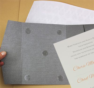 Best 25 hobby lobby wedding invitations ideas on pinterest pocket invitation glued with double sided tape dots stopboris Image collections