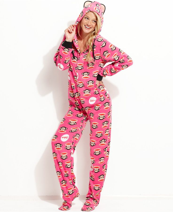 Paul Frank Hooded Footed Pajamas Want Need Love