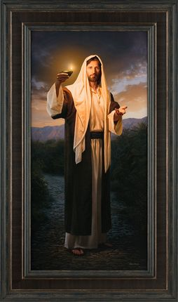 One of our most popular art pieces at the moment on sale for 45% off—Lead Kindly Light by Simon Dewey. 43x24 Framed Giclee Canvas. #lds #art