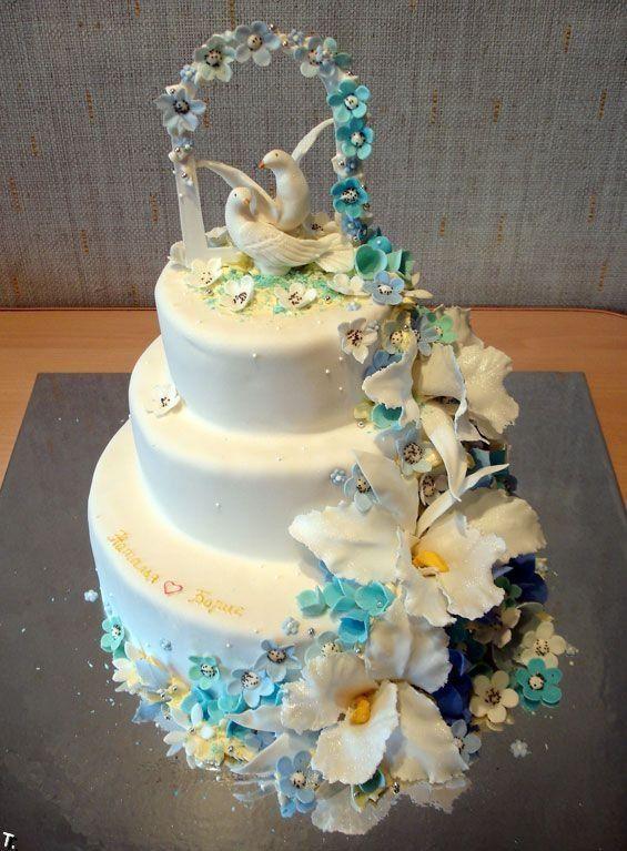 Gyönyörű esküvői torta.jp
