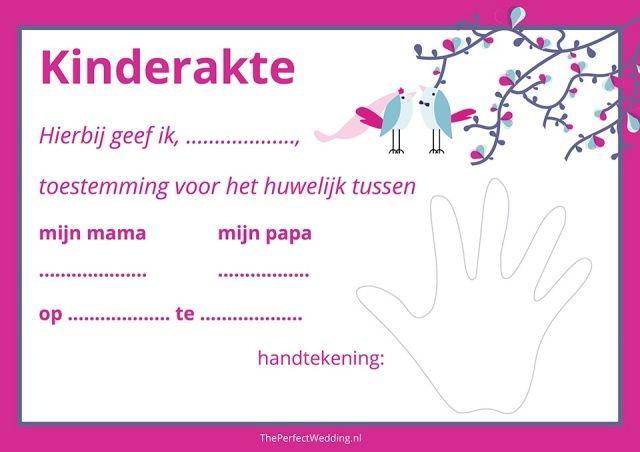 Kindertrouwakte - Laat je kinderen meetekenen als jullie trouwen | ThePerfectWedding.nl