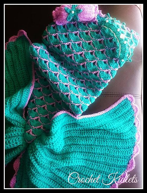 With so many mermaid tails to choose from... Here is: The best mermaid tail crochet pattern by Crochet Kidlets... Just wish they photo'd one being worn or fully spread out