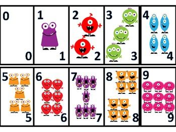 Here's a set of monster themed number cards from 0-9.