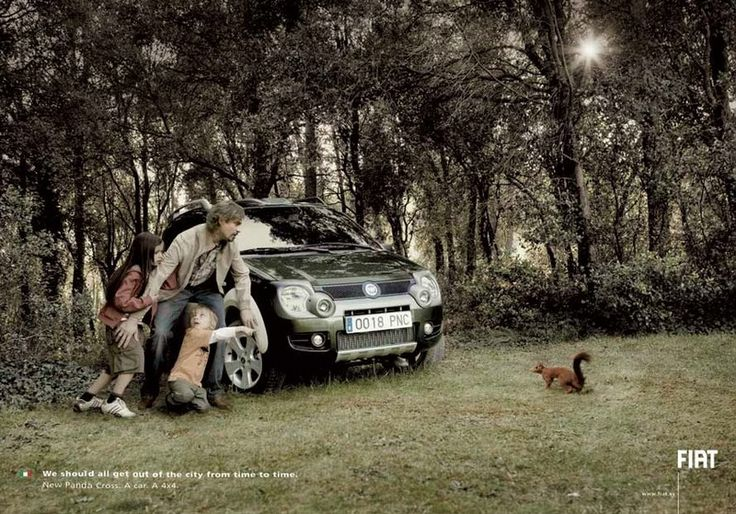 Squirrel Fiat Panda 4x4: I Observed That The Campaigns, Creative Noticed, Advertising Campaign, Prints Observed, Humor Prints, Observed Prints, Time Adverti, The Cities, Prints Ads