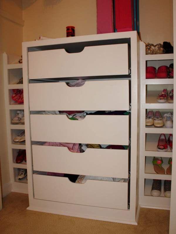 Drawers In Closet Diy