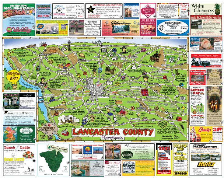 Fun Maps USA - Lancaster County, PA