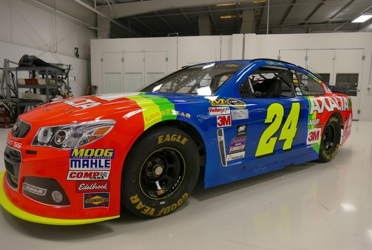 kyle larson jeff gordon | Jeff Gordon avec la déco Rainbow Warrior à Bristol
